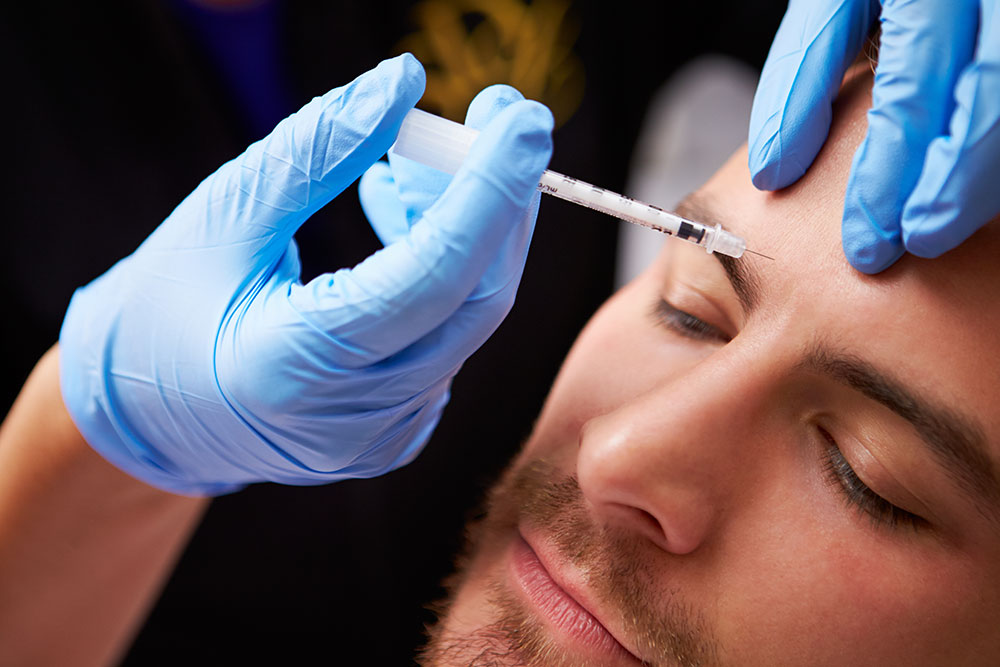 Man Receiving Fillers